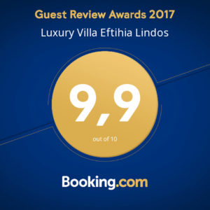 Booking review award Villa Eftihia in Lindos