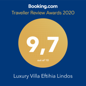 Booking review award Villa Eftihia in Lindos 2020