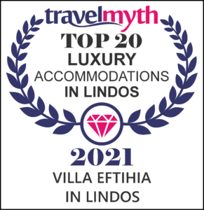 VILLA EFTIHIA IN LINDOS TRAVELMYTH AWARD 2021