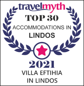 VILLA EFTIHIA IN LINDOS TOP 30 ACCOMMODATION TRAVELMYTH AWARD 2021